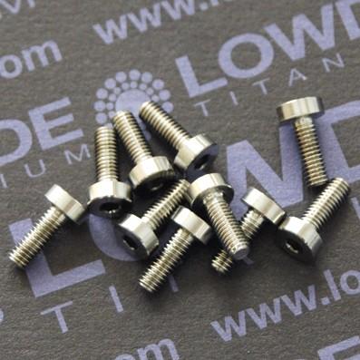 DIN 7984 M3x8 mm. de titanio gr. 5 (6Al4V) - DIN 7984 M3x8 mm. de titanio gr. 5 (6Al4V)