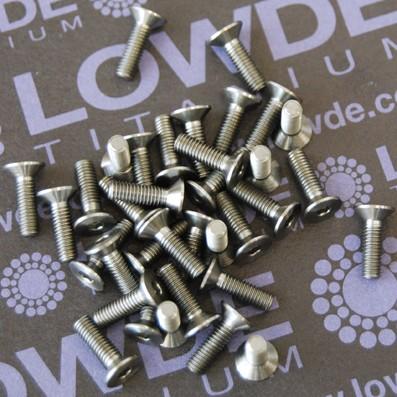 Avellanado DIN 7991 M3x10 mm. de titanio gr. 5 (6Al4V) - Avellanado DIN 7991 M3x10 mm. de titanio gr. 5 (6Al4V)
