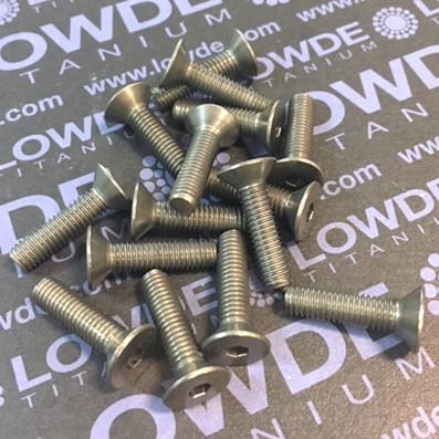 Tornillo DIN 7991 M5x20 mm. de titanio gr. 2 (puro) - Tornillo DIN 7991 M5x20 mm. de titanio gr. 2 (puro)