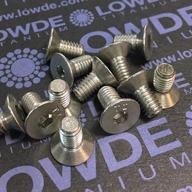 Avellanado DIN 7991 M6x12 mm. de titanio gr. 2 - Avellanado DIN 7991 M6x12 mm. de titanio gr. 2. Estampado.