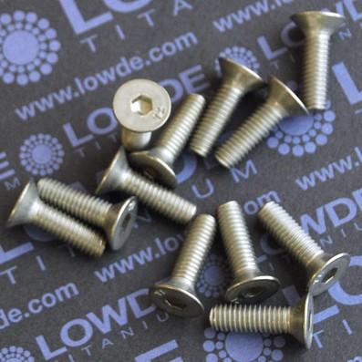 Avellanado DIN 7991 M6x20 mm. de titanio gr. 2
