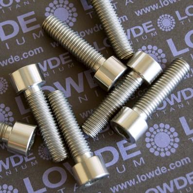 Tornillo DIN 912 M10x150x38 titanio gr. 5 (6Al4V) Totalmente roscado. - Tornillo DIN 912 M10x150x38 titanio gr. 5 (6Al4V) Totalmente roscado.