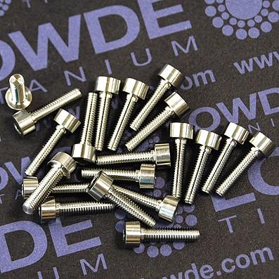 DIN 912 M3x12 titanio gr. 5 (6Al4V). Mecanizado CNC - Tornillo DIN 912 M3x12 mm. de titanio gr. 5 (6Al4V). Mecanizado CNC