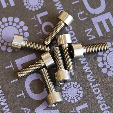 DIN 912 M3x12 titanio gr. 5 (6Al4V) - Tornillo DIN 912 M3x12 mm. de titanio gr. 5 (6Al4V)