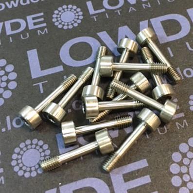 Tornillo pasador DIN 912 M3x14 titanio gr. 5 (6Al4V). Según dibujo - Tornillo pasador DIN 912 M3x14 titanio gr. 5 (6Al4V). Según dibujo