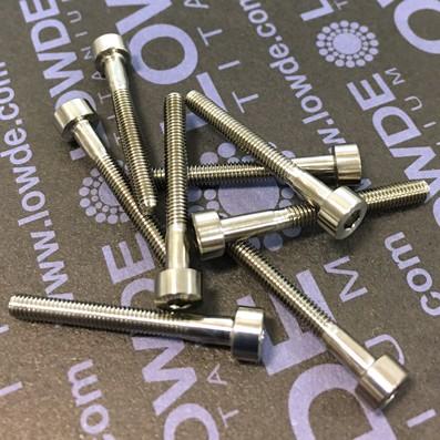 Tornillo DIN 912 M3x25 mm. de TITANIO gr. 5 (6Al4V) - Tornillo DIN 912 M3x25 mm. de titanio gr. 5 (6Al4V)