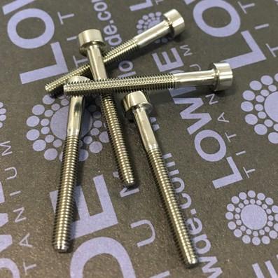 Tornillo DIN 912 M3x27 mm. de TITANIO gr. 5 (6Al4V) - Tornillo DIN 912 M3x27 mm. de titanio gr. 5 (6Al4V)