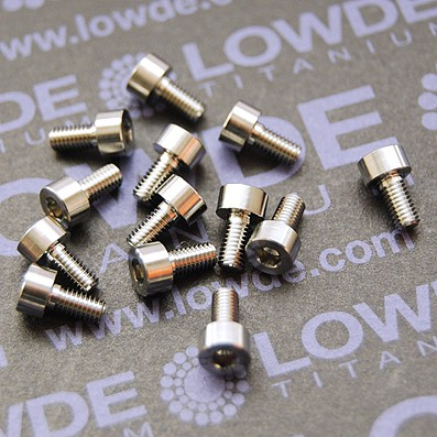 DIN 912 M3x5 titanio gr. 5 (6Al4V) - Tornillo DIN 912 M3x5 mm. de titanio gr. 5 (6Al4V)