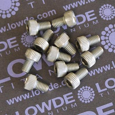 Tornillo DIN 912 M5x8 mm. de titanio gr. 2 (puro) - Tornillo DIN 912 M5x8 mm. de titanio gr. 2 (puro)