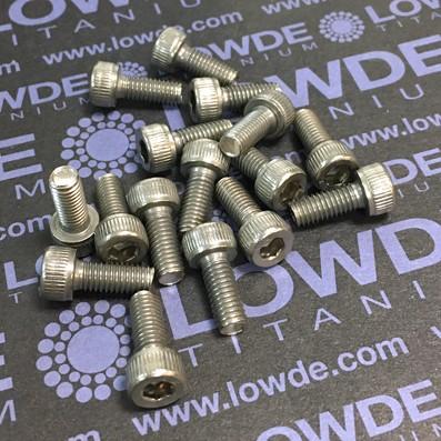 Tornillo DIN 912 M5x12 mm. de titanio gr. 2 (puro) - Tornillo DIN 912 M5x12 mm. de titanio gr. 2 (puro)