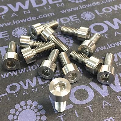 Tornillo DIN 912 M5x12 mm. de titanio gr. 2 (puro). Mecanizado - Tornillo DIN 912 M5x12 mm. de titanio gr. 2 (puro). Mecanizado