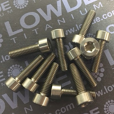 DIN 912 M5x18 Torx T25 titanio gr. 5 (6Al4V) - Tornillo DIN 912 M5x18 Torx T25 titanio gr. 5 (6Al4V)