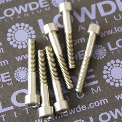 DIN 912 M5x35 titanio gr. 5 (6Al4V) - Tornillo DIN 912 M5x35 mm. de titanio gr. 5 (6Al4V)