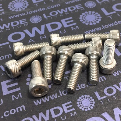 Tornillo DIN 912 M6x16 mm. de titanio gr. 2 (puro) - Tornillo DIN 912 M6x16 mm. de titanio gr. 2 (puro)