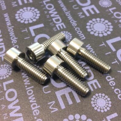 DIN 912 M6x18 titanio gr. 5 (6Al4V) - Tornillo DIN 912 M6x18 mm. de titanio gr. 5 (6Al4V)
