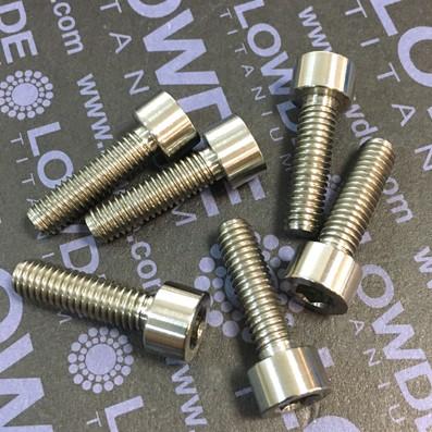 DIN 912 M6x21 titanio gr. 5 (6Al4V) - Tornillo DIN 912 M6x21 mm. de Titanio gr. 5 (6Al4V)