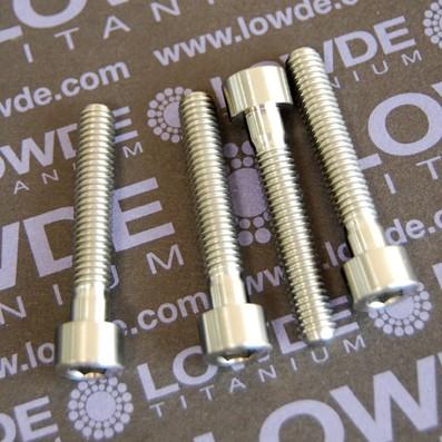 Tornillo DIN 912 M6x35 mm. de Titanio grado 5 (6Al4V) - 1 Tornillo DIN 912 M6x35 mm. de titanio gr. 5 (6Al4V)