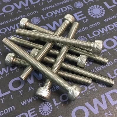 Tornillo DIN 912 M6x60 mm. de titanio gr. 2 (puro) - Tornillo DIN 912 M6x60 mm. de titanio gr. 2 (puro)