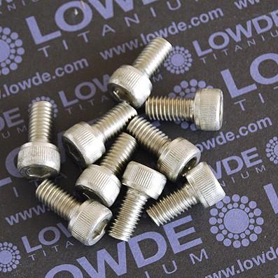 Tornillo DIN 912 M8x15 mm. de titanio gr. 2 (puro)