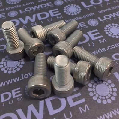 Tornillo DIN 912 M8x20 mm. de titanio gr. 2 (puro)