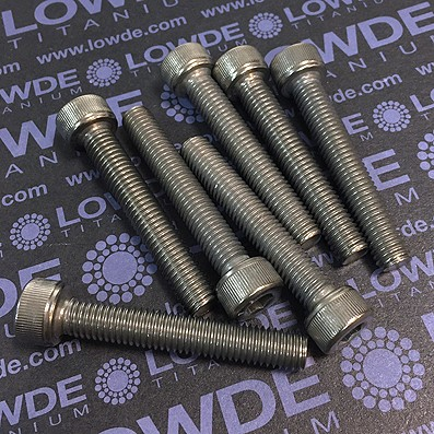 Tornillo DIN 912 M8x50 mm. de titanio gr. 2 (puro)