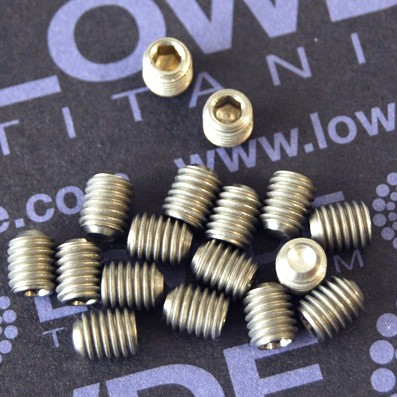 Espárrago prisionero DIN 916 M5x6 mm. de titanio gr. 2