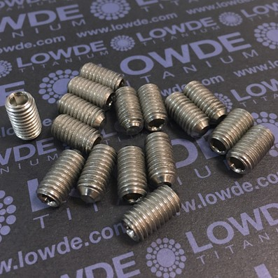 Espárrago prisionero DIN 916 M8x15 mm. de titanio gr. 2 - Espárrago prisionero DIN 916 M8x15 mm. de titanio gr. 2