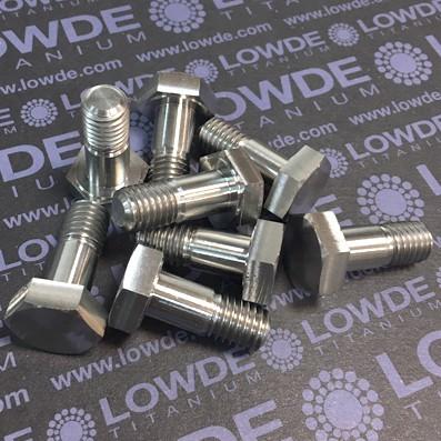 DIN 931 M10x25 mm. de titanio gr. 5 (6Al4V) - 1 Tornillo DIN 931 M10x25 mm. de titanio gr. 5 (6Al4V)