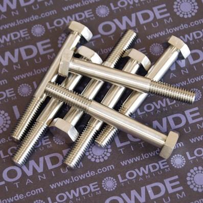 Tornillo DIN 931 M10x1,50x80 mm. de titanio gr. 5 (6Al4V). - 1 Tornillo DIN 931 M10x1,50x80 mm. de titanio gr. 5 (6Al4V).