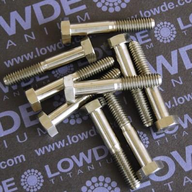 DIN 931 M6x35 mm. de titanio gr. 5 (6Al4V)