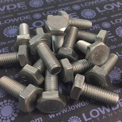 Tornillo DIN 933 M10x25 mm. de titanio gr. 2 (puro)