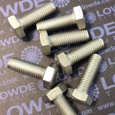 Tornillo DIN 933 M10x30 mm. de titanio gr. 2 (puro)
