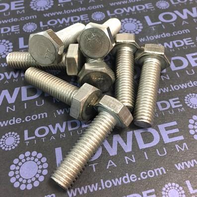 Tornillo DIN 933 M10x35 mm. de titanio gr. 2 (puro)