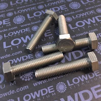 Tornillo DIN 933 M10x50 mm. de titanio gr. 2 (puro)