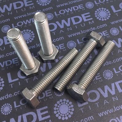 Tornillo DIN 933 M10x55 mm. de titanio gr. 2 (puro)