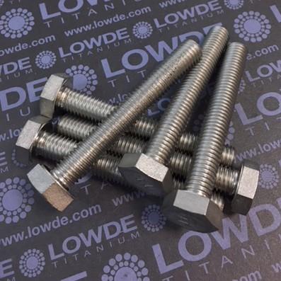 Tornillo DIN 933 M10x70 mm. de titanio gr. 2 (puro)