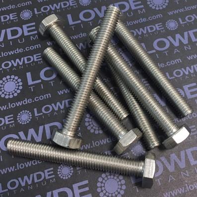 Tornillo DIN 933 M10x80 mm. de titanio gr. 2 (puro)