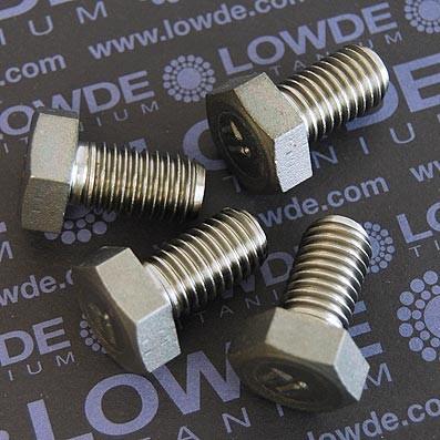 Tornillo DIN 933 M12x20 mm. de titanio gr. 2 (puro) - Tornillo DIN 933 M12x20 mm. de titanio gr. 2 (puro)