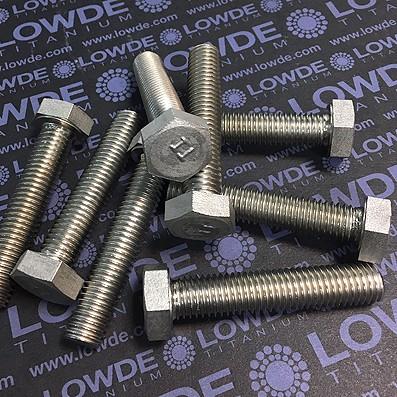 Tornillo DIN 933 M12x60 mm. de titanio gr. 2 (puro)