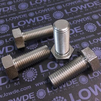 Tornillo DIN 933 M16x40 mm. de titanio gr. 2 (puro) - Tornillos DIN 933 M16x2,00x10 mm. de titanio gr. 2 (puro)