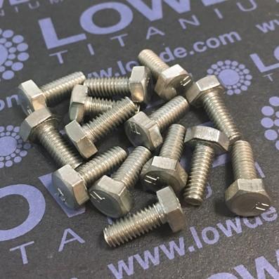 Tornillo DIN 933 M4x10 mm. de titanio gr. 2 (puro)