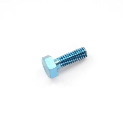 DIN 933 M4x12 mm. de titanio gr. 5 (6Al4V). Anodizado azul - DIN 933 M4x12 mm. de titanio gr. 5 (6Al4V). Anodizado azul.