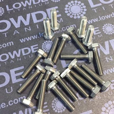 DIN 933 M4x18 mm. de titanio gr. 5 (6Al4V)