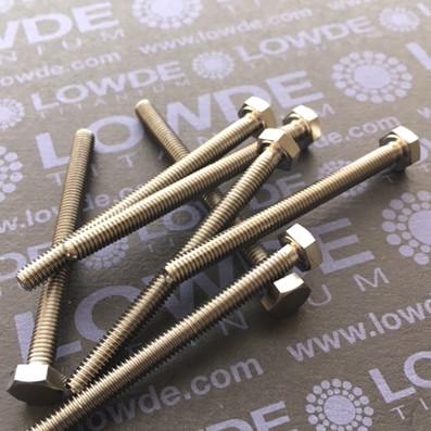 Tornillo DIN 933 M4x50 mm. de titanio gr. 2 (puro)
