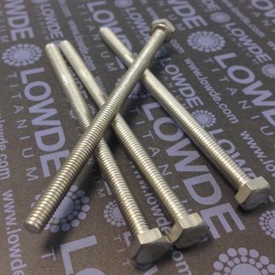 Tornillo DIN 933 M6x100 mm. de titanio gr. 2 (puro) - Tornillo DIN 933 M6x100 mm. de titanio gr. 2 (puro)