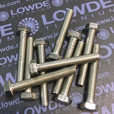 Tornillo DIN 933 M6x40 mm. de titanio gr. 2 (puro) - Tornillo DIN 933 M6x40 mm. de titanio gr. 2 (puro)