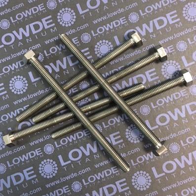 Tornillo DIN 933 M8x120 mm. de titanio gr. 2 (puro) - Tornillo DIN 933 M8x120 mm. de titanio gr. 2 (puro)