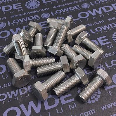 Tornillo DIN 933 M8x20 mm. de titanio gr. 2 (puro) - Tornillo DIN 933 M8x20 mm. de titanio gr. 2 (puro)