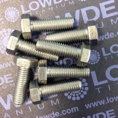 Tornillo DIN 933 M8x25 mm. de titanio gr. 2 (puro) - Tornillo DIN 933 M8x25 mm. de titanio gr. 2 (puro)