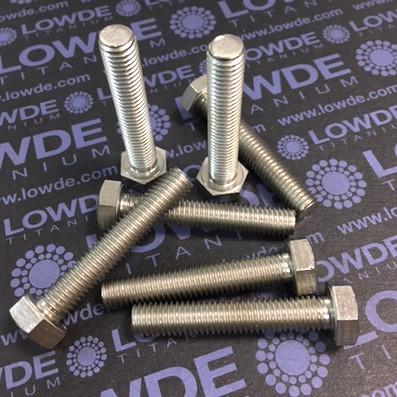 Tornillo DIN 933 M8x45 mm. de titanio gr. 2 (puro) - Tornillo DIN 933 M8x45 mm. de titanio gr. 2 (puro)